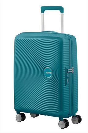 Maleta American Tourister SOUNDBOX spiner expandible 55X40X20/23 cm jade green