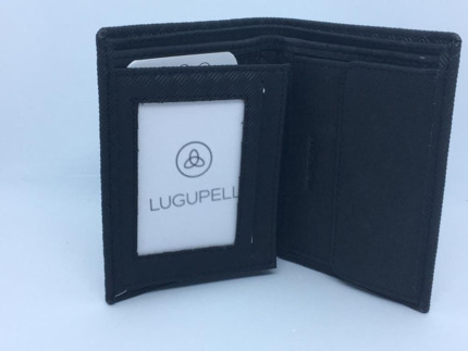 BILLETERA DE PIEL LUGUPELL ARROW 2109 NEGRA