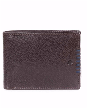 BILLETERA de piel MIGUEL BELLIDO AMERICANA CON MONEDERO INTERIOR marron