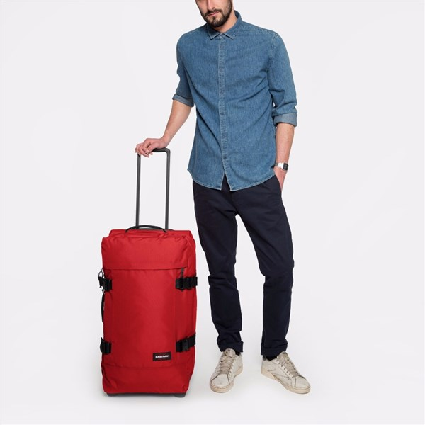 BOLSA RUEDAS EASTPAK Tranverz M Apple Pick Red (4)