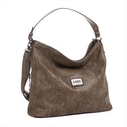 BOLSODE MUJER  LOIS BANDOLERA WITH STRAP TAUPE