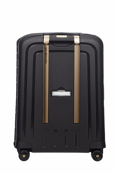 MALETA SAMSONITE S'CURE DLX Spinner 55cm Black/Gold Deluscious (6)