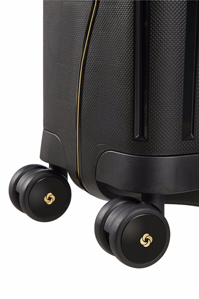 MALETA SAMSONITE S'CURE DLX Spinner 55cm Black/Gold Deluscious (7)
