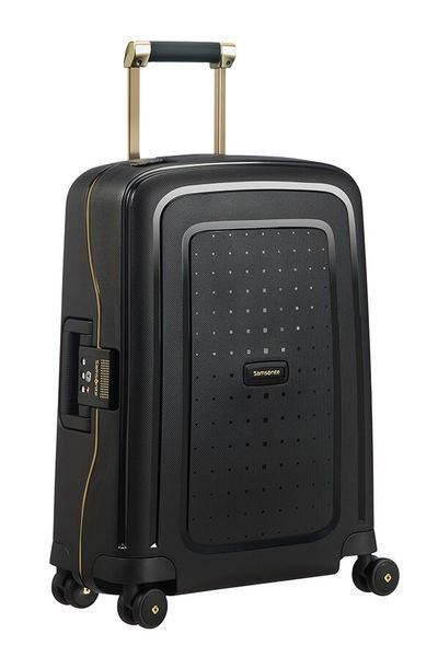 MALETA SAMSONITE S'CURE DLX Spinner 55cm Black/Gold Deluscious