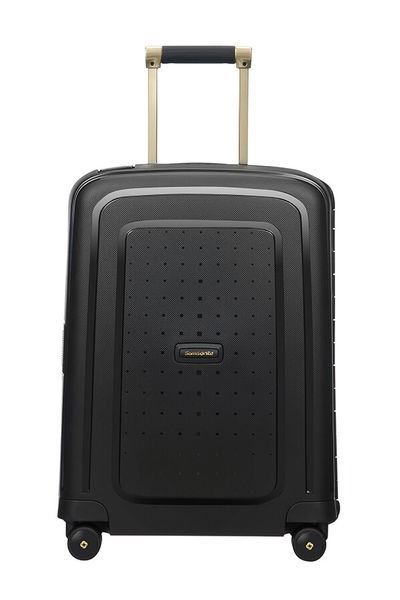 MALETA SAMSONITE S'CURE DLX Spinner 55cm Black/Gold Deluscious (8)