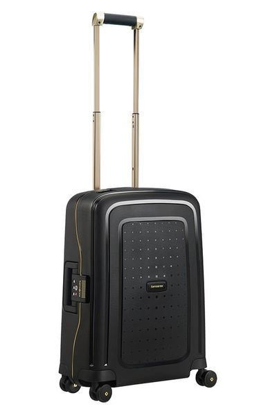 MALETA SAMSONITE S'CURE DLX Spinner 55cm Black/Gold Deluscious (9)