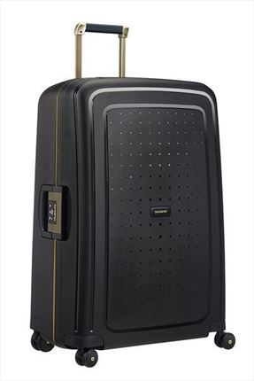 SAMSONITE S'CURE DLX Spinner 75cm Black/Gold Deluscious